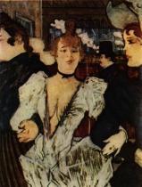 La Golue vstupuje do Moulin Rouge. Olej na plátně. 1892. 80×60. Sbírka Bernheim de Villers, Paříž.