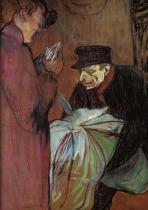 Pradlenář v bordelu. Olej na lepence. 1893. 57,8×46,2. Musée Toulouse-Lautrec, Albi.