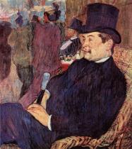 Léon Delaporte v Jardin de Paris . Olej, lepenka. 1893. 70×60. NY Carlsberg Glyptotek, Kodaň.