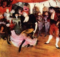 Marcelle Lenderová tančí bolero v Chilpéricu. Olej, plátno. 1895. 145×150. Sbírka Johna H. Whitneye, New York.