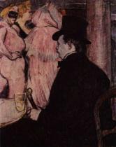Maxime Dethomas na operním plese. Tempera. 1896. 68×54. National Gallery of Art, Washington, DC.
