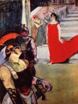 Messalina sestupuje ze schodiště. Olej, plátno. 1900-1901. 99,5 × 73. Country Museum of Art, Los Angeles.