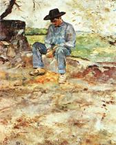 Mladý Routy v Céleyranu. Olej na plátně. 1883. 61×49. Musée Toulouse-Lautrec, Albi.