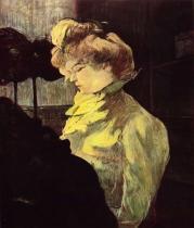 Modistka. Olej, dřevo. 1900. 61×49,5. Musée Toulouse-Lautrec, Albi.