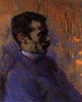 Můj zachránce. Olej na dřevě. 1899. 43×36. Musée Toulouse-Lautrec, Albi.