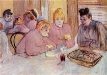 Odpočívající ženy. Olej, lepenka. 1895. 60,5×80. Szépművészeti múzeum, Budapešť.