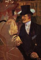Angličan v Moulin Rouge, studie. Olej a kvaš na lepence. 1892. 116,5×81. The Metropolitan Museum of Art, New York.