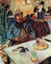 Pan Boileau v kavárně. Olej, plátno. 1893. 80×65. Sbírka Hinmana B. Hurlbuta, Museum of Art, Cleveland.