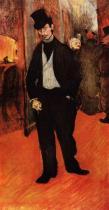 Portrér Gabriela Tapiého de Céleyran. Olej, plátno. 1894. 110×56. Musée Toulouse-Lautrec, Albi.