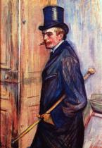 Portrét Louise Pascala. Olej, lepenka. 1893. 77×53. Musée Toulouse-Lautrec, Albi.
