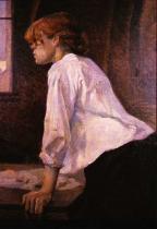 Pradlena. Olej na plátně. 1888. 93×75. Soukromá sbírka.
