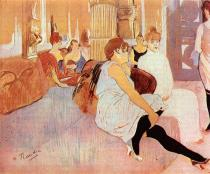 Salón v rue des Moulins. Pastel, kartón. 1894. 111×132. Musée Toulouse-Lautrec, Albi.