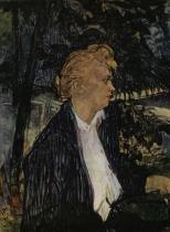 Sedící žena. Tempera. 1892.