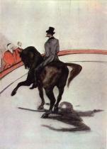 V cirkuse: Španělský krok. Kresba barevnými tužkami, papír. 1899. 35×25. Knoedlerova sbírka.