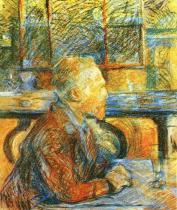 Vincent van Gogh. Kresba na lepence. 1887. 57×46,5. Muzeum Vincenta van Gogha, Amsterdam.