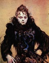 Žena s kožešinou. Olej, lepenka. 1892. 53×41. Musée du Louvre, Paříž.