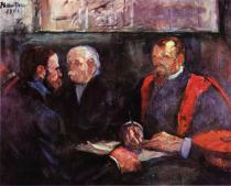 Zkouška na fakultě. Olej, plátno. 1901. 65×81. Musée Toulouse-Lautrec, Albi.