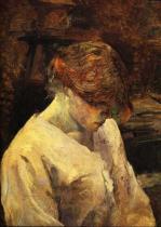 Zrzavá dívka v bílé kazajce. Olej na plátně. 1889. 58,2×47,5. Sbírka Von Hirshe.