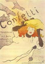 Confetti. Barevná litografie, plakát. 1894. 54,5×39.