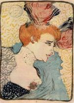 Herečka Marcelle Lenderová. Barevná litografie. 1895. 32,5×23,5. Národní galerie, Praha.