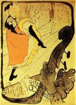 Jardin de Paris: Jane Avril. Kolorovaná litografie, plakát. 1893. 124×91,5. Bibliothéque Nationale, Paříž.