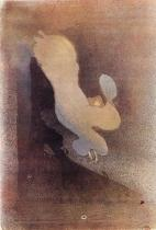 Loie Fullerová. Kolorovaná černobílá litografie. 1893. 43×27. Bibliothéque Nationale, Paříž.