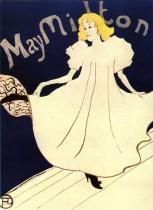 May Miltonová. Barevná litografie, plakát. 1895. 78,5×59,7.