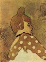 Hlava La Goloe, studie k plakátu. Akvarel, tempera. 1891.