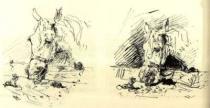 Cocotte. Dvě kresby. 1881. Soukromá sbírka.