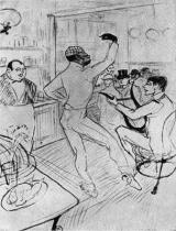 Chocolat při tanci. Kresba tužkou a čínskou tuží. 1893. 77×61.