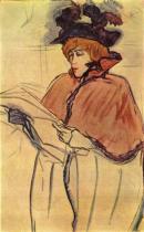 Jane Avril. Náčrt olejem. 1893.