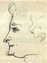 Marcelle Lenderová. Kresba tužkou.