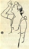 Žena. Kresba litografickou křídou.