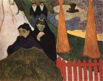 Arlesanky v parku. Olej na plátně. 1888. 73×91,5. Sbírka pana a paní Coburnových, Art Institute, Chicago.