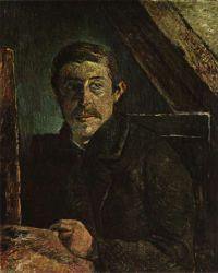 Vlastní podobizna u štaflí. Olej na plátně. 1884 - 85. 65×54,5. Sbírka Dr. J. Körfera, Bern.