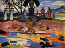 Den zasvědcený Bohu (Mahana no Atua). Olej na plátně. 1894. 66×108. Art Institute, Chicago.