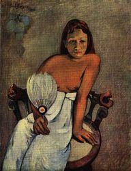 Žena sa vějířem. Olej na plátně. 1902.