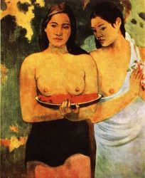 Dívky s květy mangovníku (Ňadra a červené květy). Olej na plátně. 1899. 94×73. Metropolitan Museum of Art, New York.