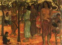 Dny rozkoší (Nave nave mahana). Olej na plátně. 1896. 95×130. Musée des Beaux-Arts, Lyon.