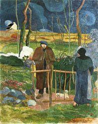 Dobrý den pane Gauguine (Bonjour, Monsieur Gauguin). Olej na plátně. 1889. 92,5×74. Národní galerie, Praha.