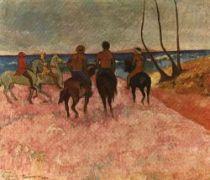 Jezdci na pobřeží. Olej na plátně. 1901. 65,5×77. Sbírka Nathana Cummingse, Chicago.