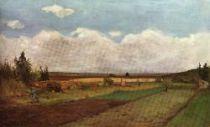 Zasněžená krajina. Dřevořezba. 1898. 32,3×45,3.
