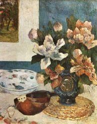 Mandolína a květiny. Olej na plátně. 1885. 61×51, Louvre, Paříž.