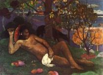 Te Arii vahine (Náčelnice). Olej na plátně. 1896. 97×130. Puškinovo muzeum, Moskva.