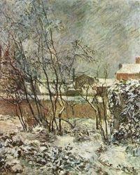 Sníh v ulici Carcel. Olej na plátně. Asi 1883. 60×50. Ny Carlsberg Glyptotek, Kodaň.