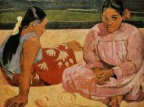 Tahiťanky na pláži. Olej na plátně. 1891. 69×90. Louvre, Paříž.