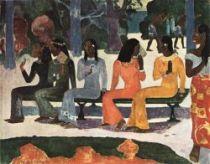Ta matete (Tržiště). Olej na plátně. 1892. 75×92. Kunstmuseum, Basilej.