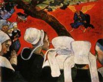 Vidění po kázání (Zápas Jakuba s andělem). Olej na plátně. 1888. 73×92. National Gallery of Scotland, Edinburgh.
