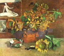 Zátiší s obrazem Naděje Puvise de Chavannes. Olej na plátně. 1896. 76×64. Museum de Arte, São Paulo.