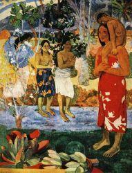 Zdrávas Maria (Ia orana Maria). Olej na plátně. 1891. 114×89. Metropolitan Museum of Art, New York.